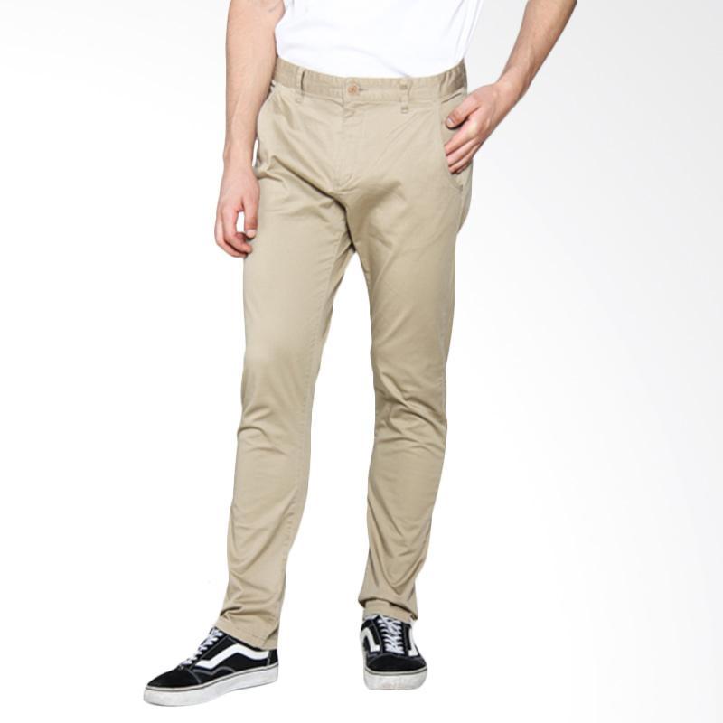 Moutley Street Chinos Celana Panjang Pria - Cream 329051713