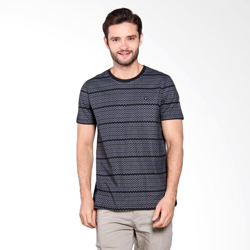 Famo Printed Casual Relaxed Tee - Black [504051712]