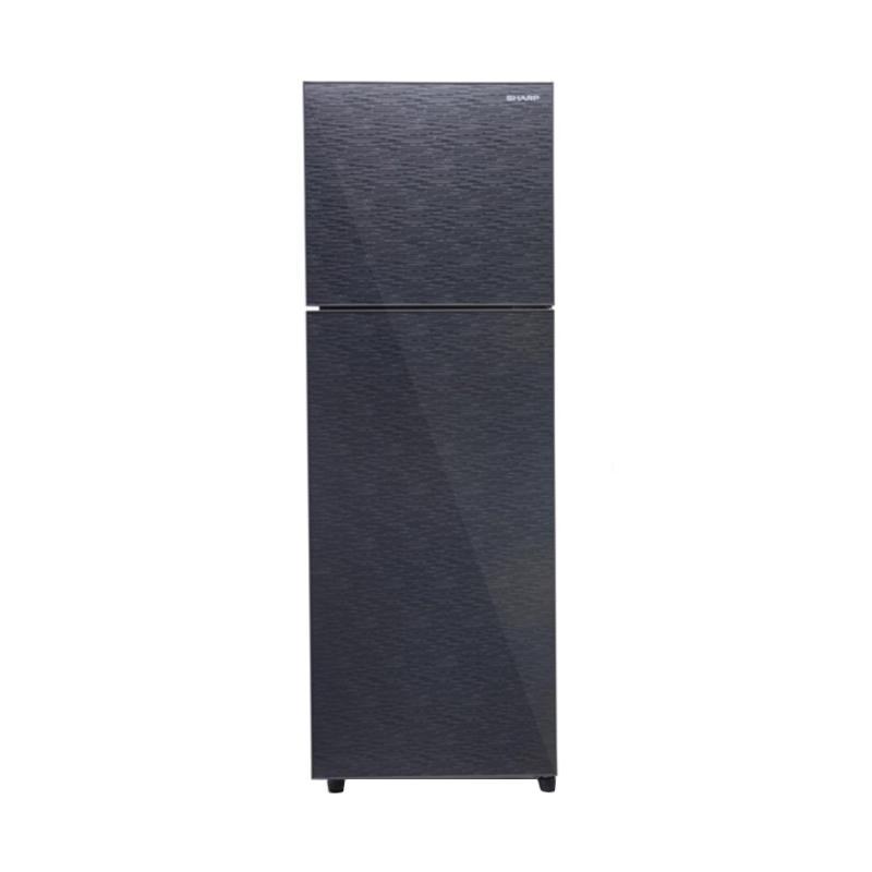 SHARP SJ326XGMS Small 2 Door Refrigerator Kulkas - Silver [256 L]