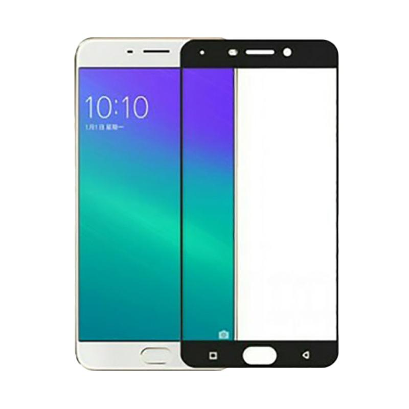 Tempered Glass Screen Protector for Oppo A57 - Lis Hitam [2.5D Full Screen]