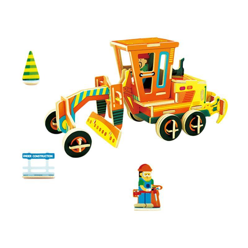 Robotime VC301  DIY 3D Color WoodenConstruction Lightning Grader Mainan Block dan Puzzle