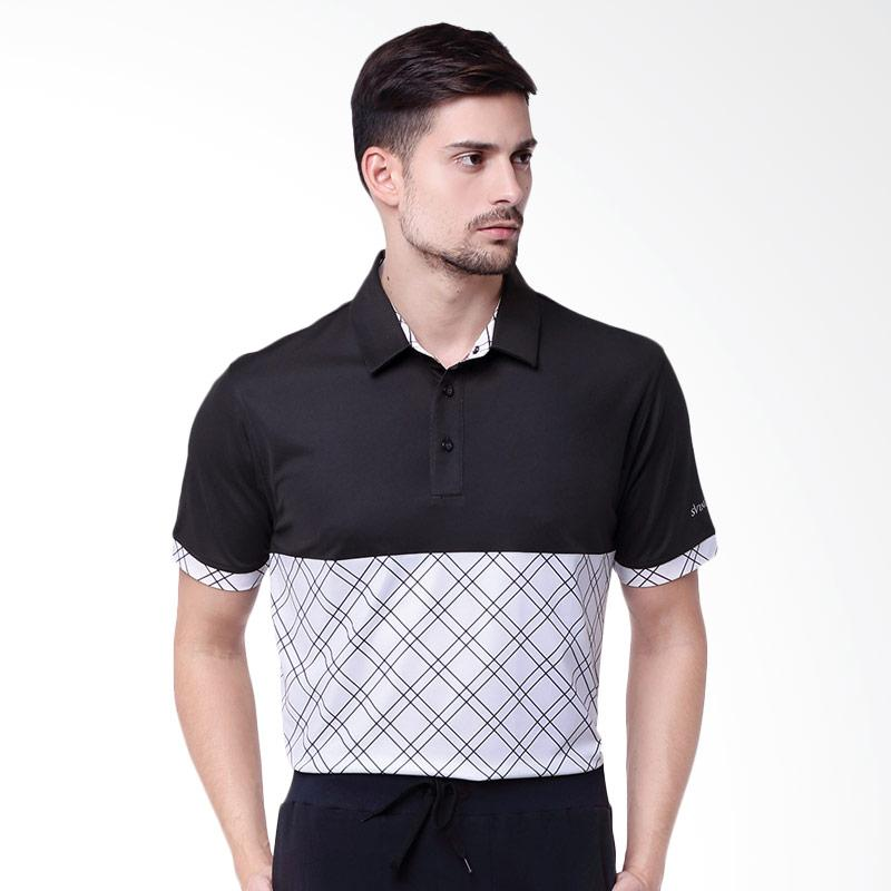 Dome Polo Golf Apparel Pakaian Golf Pria - Charcoal Black
