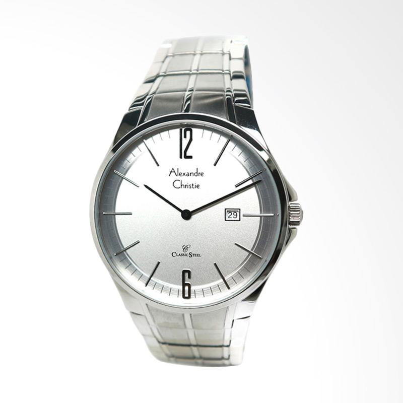 Alexandre Christie 8507 Jam Tangan Wanita - Silver White