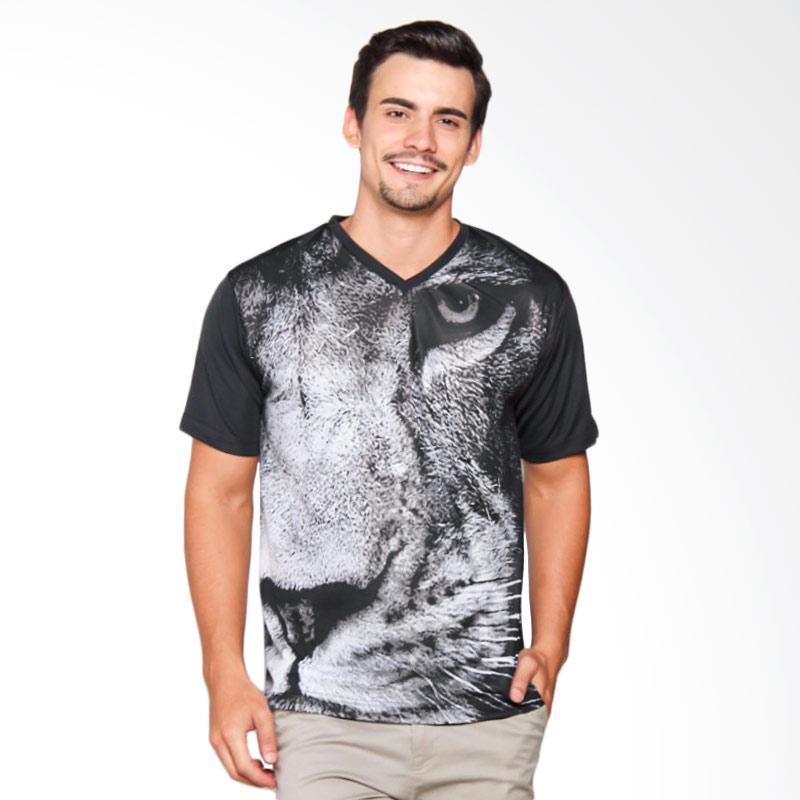 EpicMomo Lion2 T-Shirt Pria - Black AD.00117