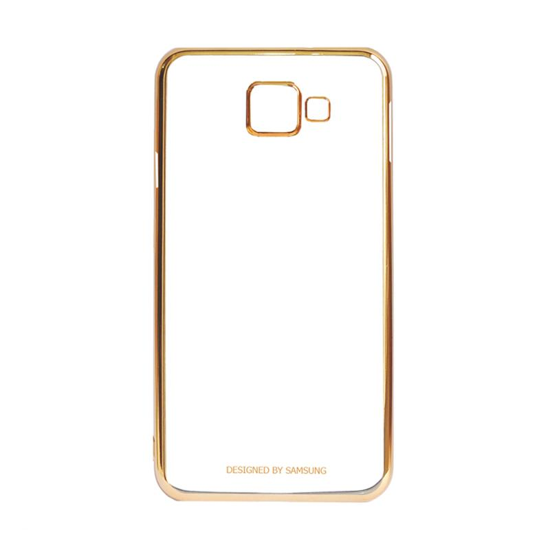 Samsung Shining List Chrome Casing for Galaxy A3 2016 A310 - Gold