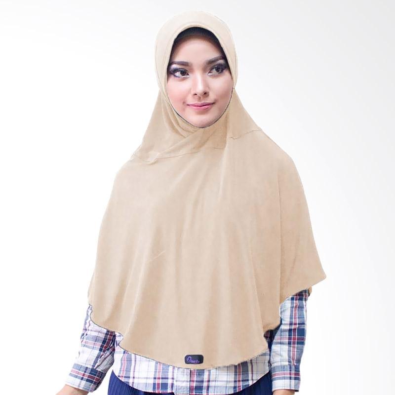 Milyarda Hijab Bergo M Jilbab Instan - Coklat Susu