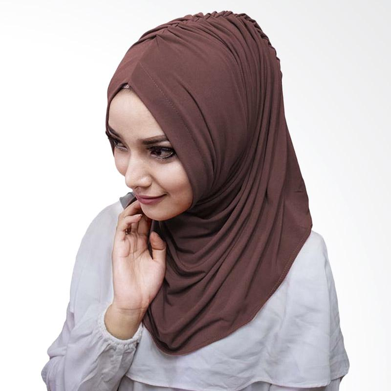 Milyarda Hijab Medirala Jilbab Instan - Coklat