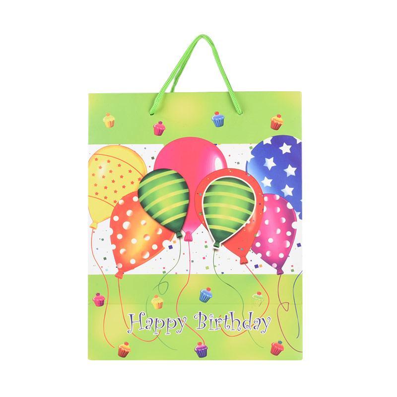 Karisma 745132 Type Metro Happy Birthday Balon Shopping Bag