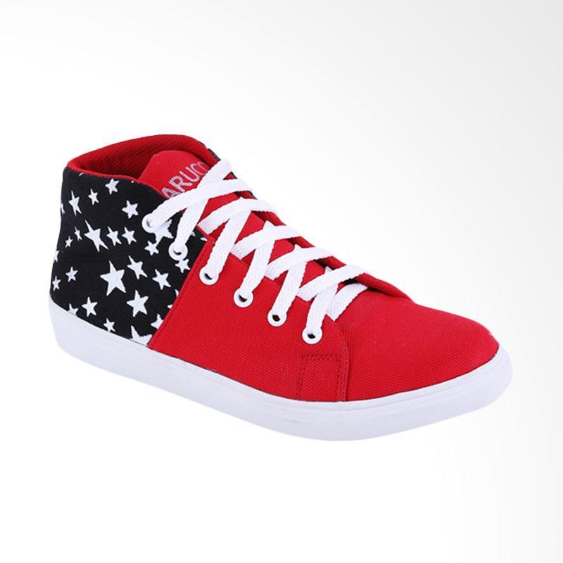 Garucci GNW 7217 Sneakers Wanita - Black Red