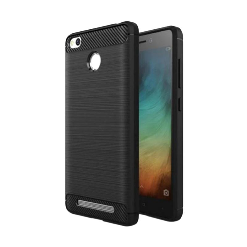 iPaky Slim Rugged Carbon for Xiaomi Redmi 3 Pro/3s/Prime - Black