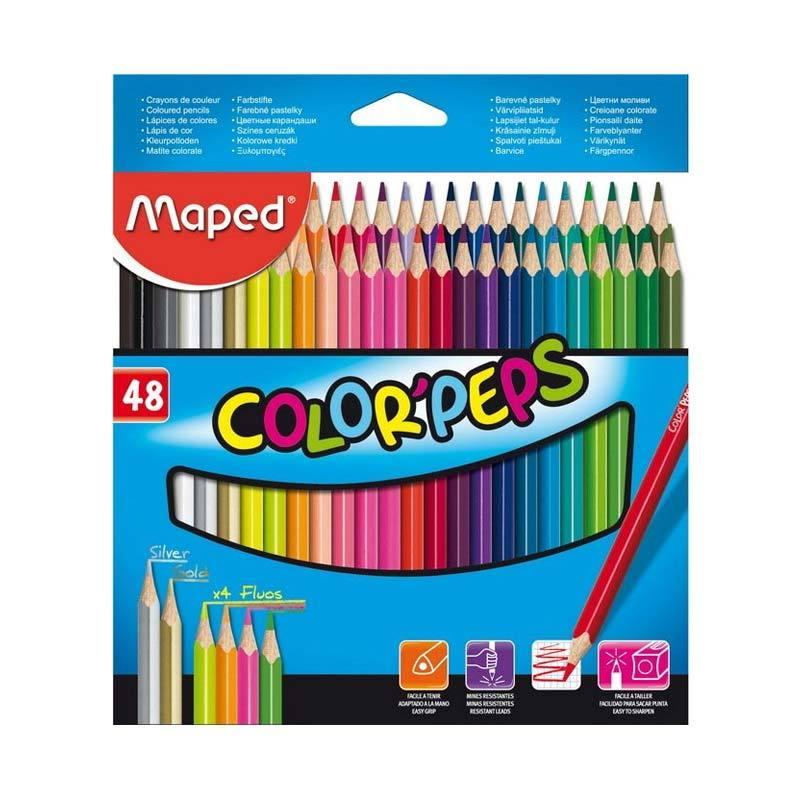 Maped Color Pep's Cardboard Box Set Pensil Warna [48 pcs]