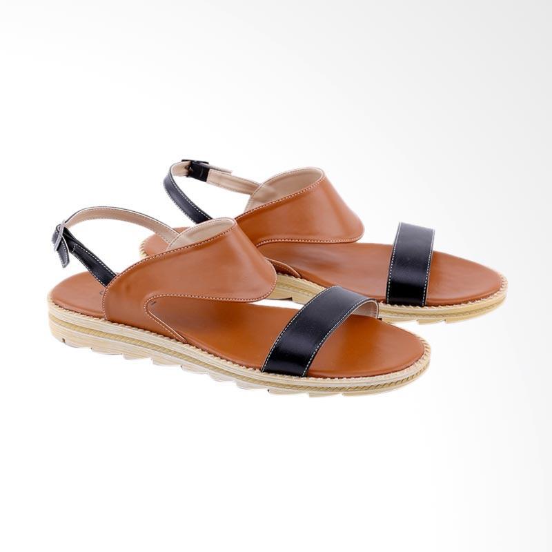 Garucci GIA 8126 Flats Sandal Wanita - Brown