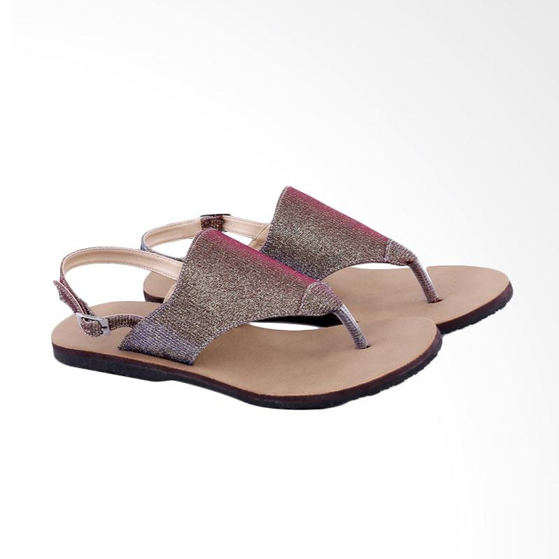 Garucci GIA 8123 Flats Sandal Wanita - Brown
