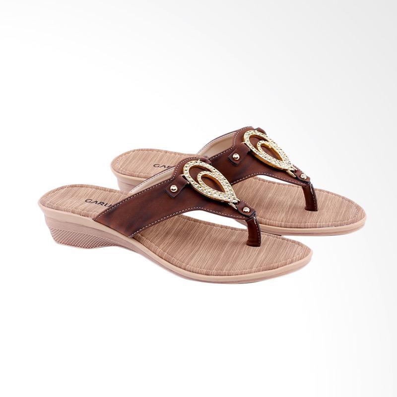 Garucci GKK 8119 Flats Sandal Wanita - Brown