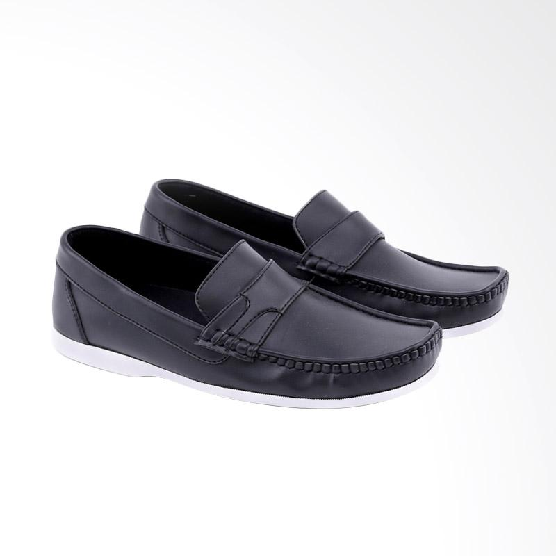 Garucci Slip On Shoes Pria - Black GST 1245