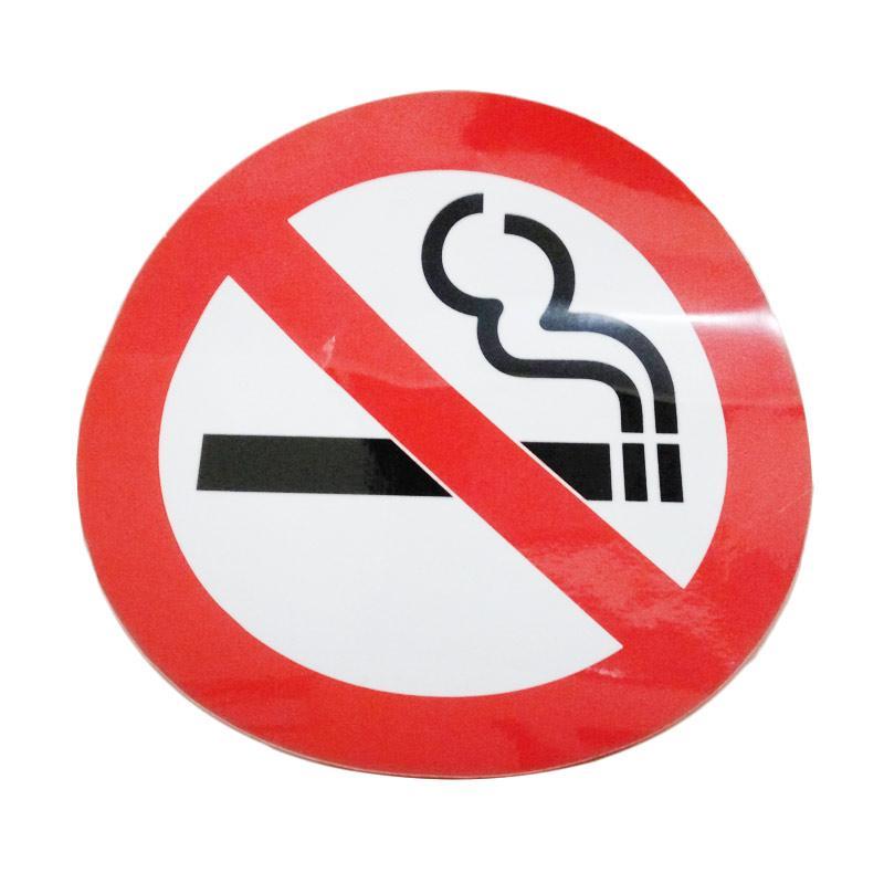 OEM No Smoking Logo EHS Dilarang Merokok Kantor Masjid Rumah Wall Stiker