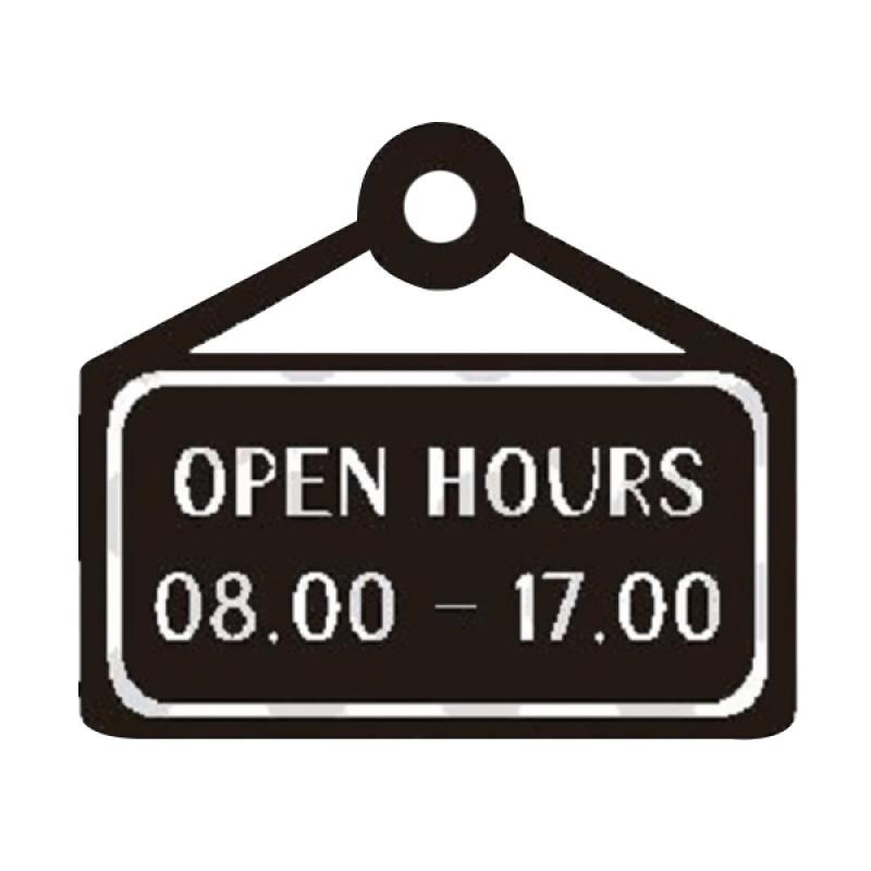 OEM Custom Open Hours Wall Sticker Dekorasi Dinding