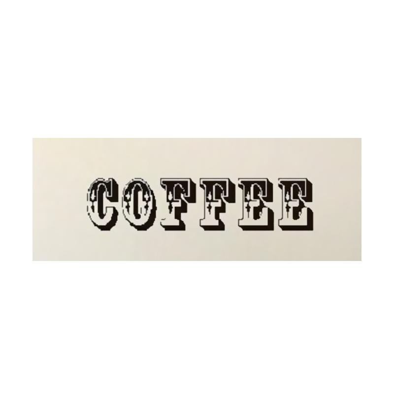 OEM Coffee Cafe Wall Sticker Dekorasi Dinding