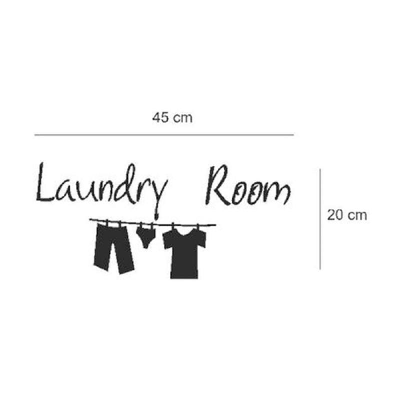 Jual Oem Quotes Laundry Room Wall Sticker Online November 2020 Blibli