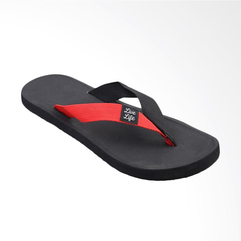 Tendencies Strap Sandal Pria - Black Red