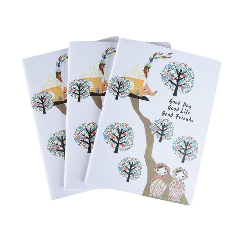 Karisma Set Buku Tulis Pohon [A5 Jepang/ 70 g/ 3 pcs] - 745524