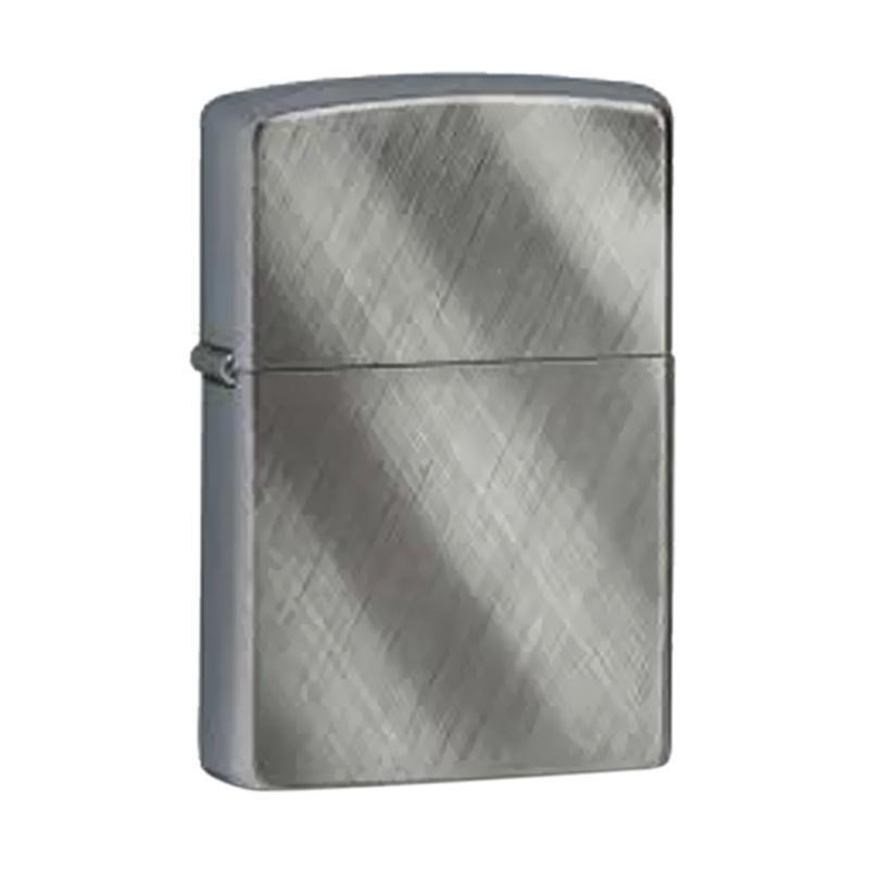 Zippo Diagonal Weave Chrome Lighter