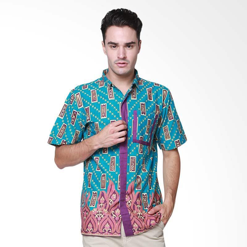 Days by Danarhadi Men Kerton Sinebar List Pocket Details Baju Batik Pria - Turquoise