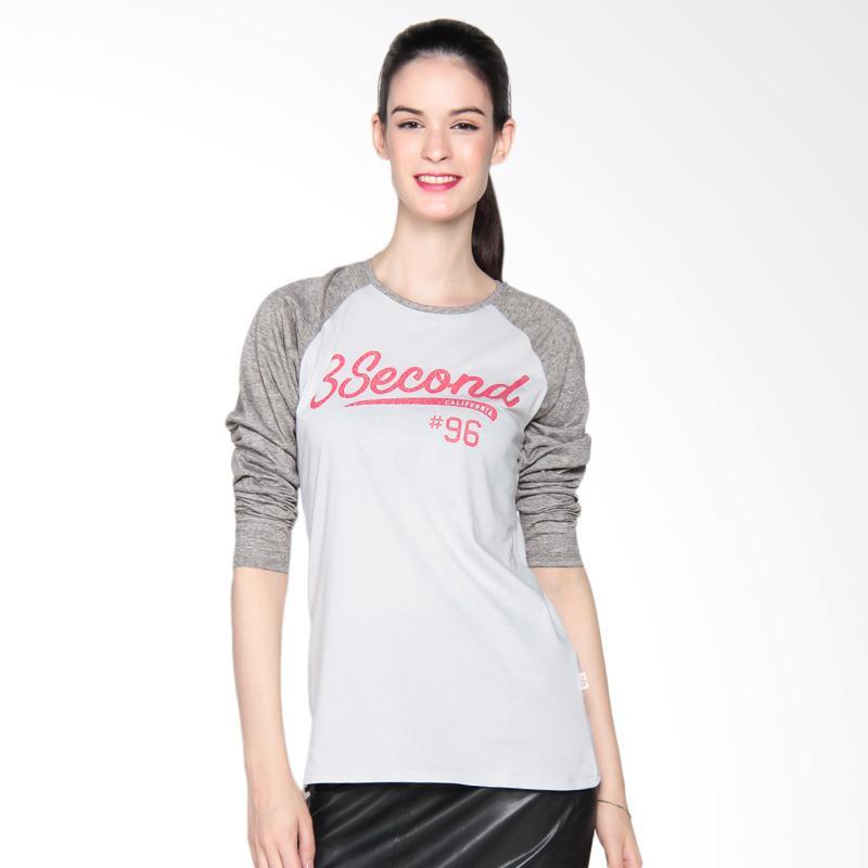 3 Second Ladies 106081722 Tshirt 3008 Kaos Wanita - Grey
