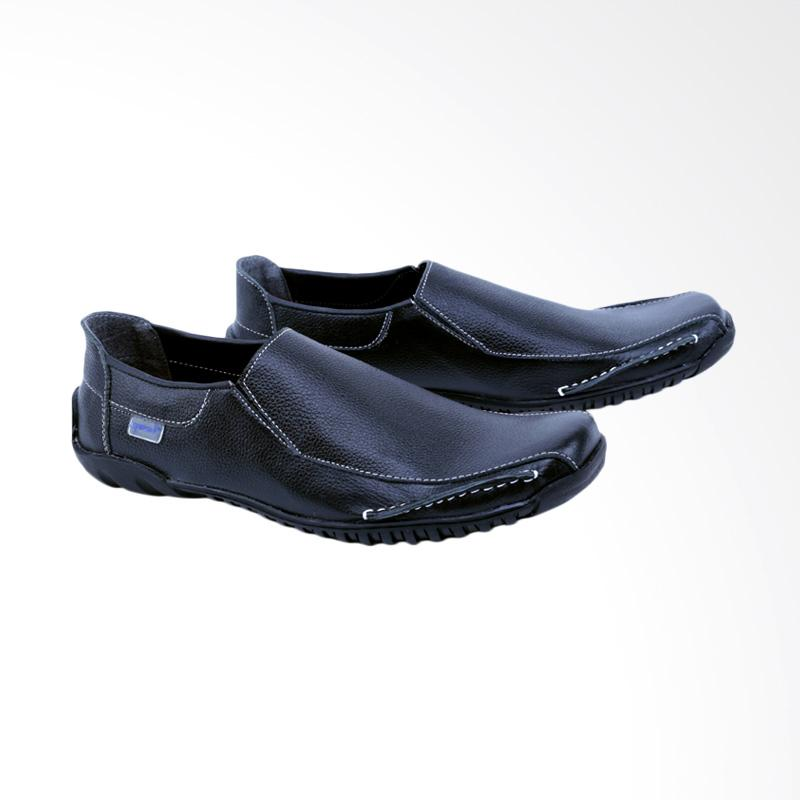 Garsel Sepatu Slip On Kasual Pria - Hitam GCN 1604
