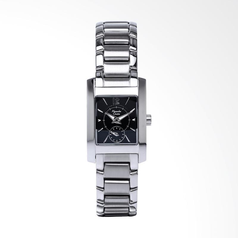 Alexandre Christie ACF-8533-LSBSSBA Ladies Pattern Dial Stainless Steel Jam Tangan Wanita - Silver