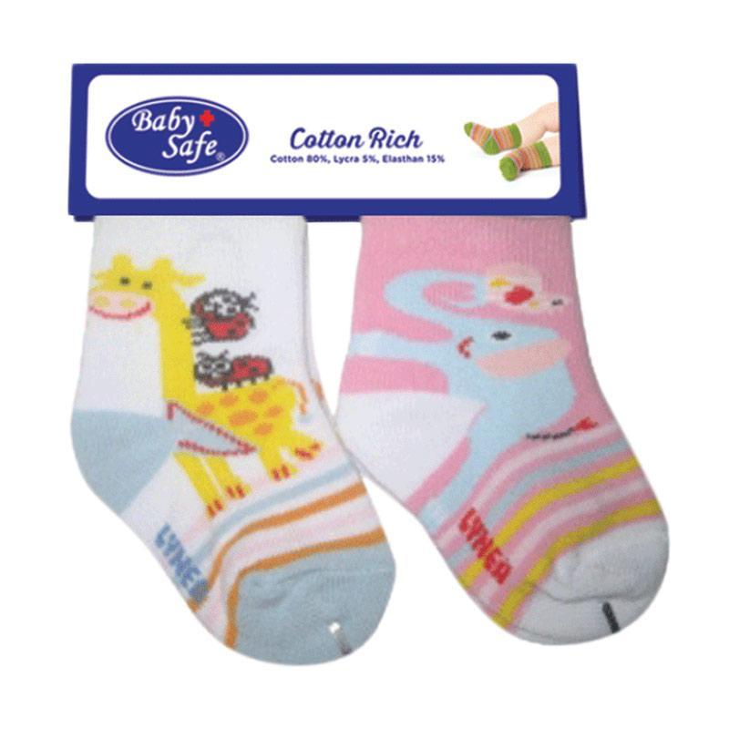 BabySafe BSS 0504 E Kaos Kaki Anak - White Pink [2 Pcs]