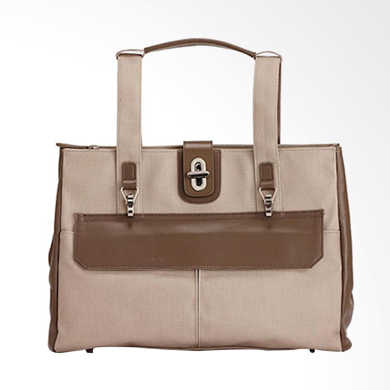 Amore Daniel Stark 3 way Business Hand Bag - Beige