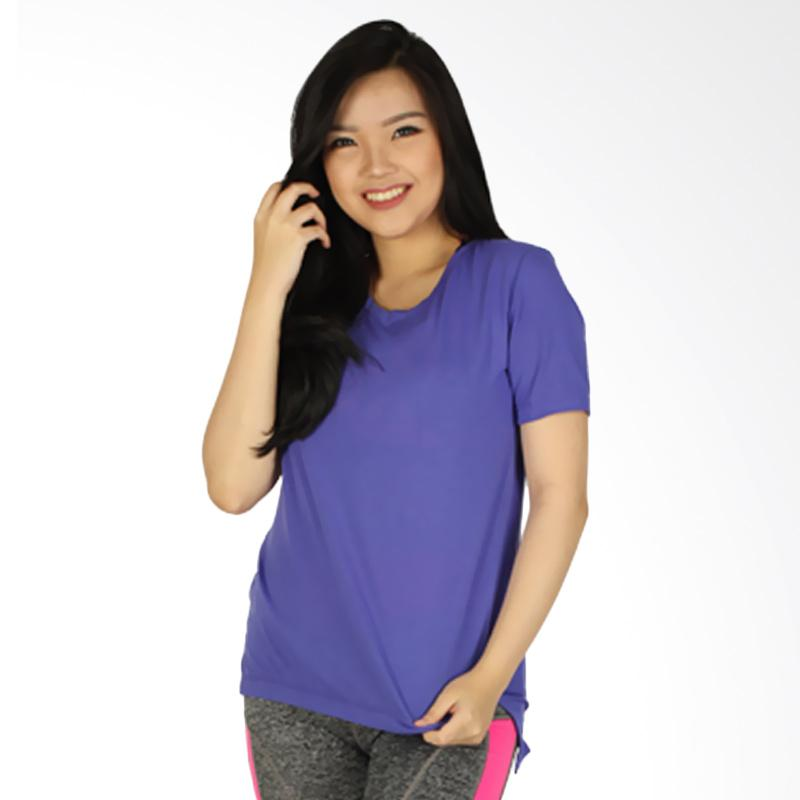GRAZIEE V-Neck Kaos Olahraga Wanita - Violet Purple MRU0013