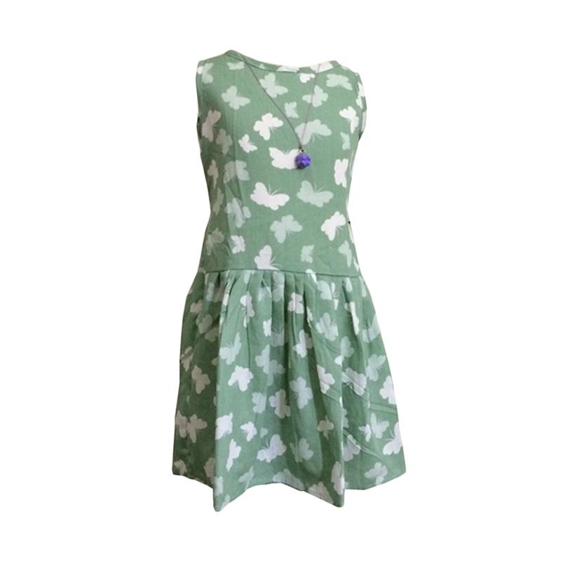 Kirana Kids Wear DR02D Bella Dress Anak - Green