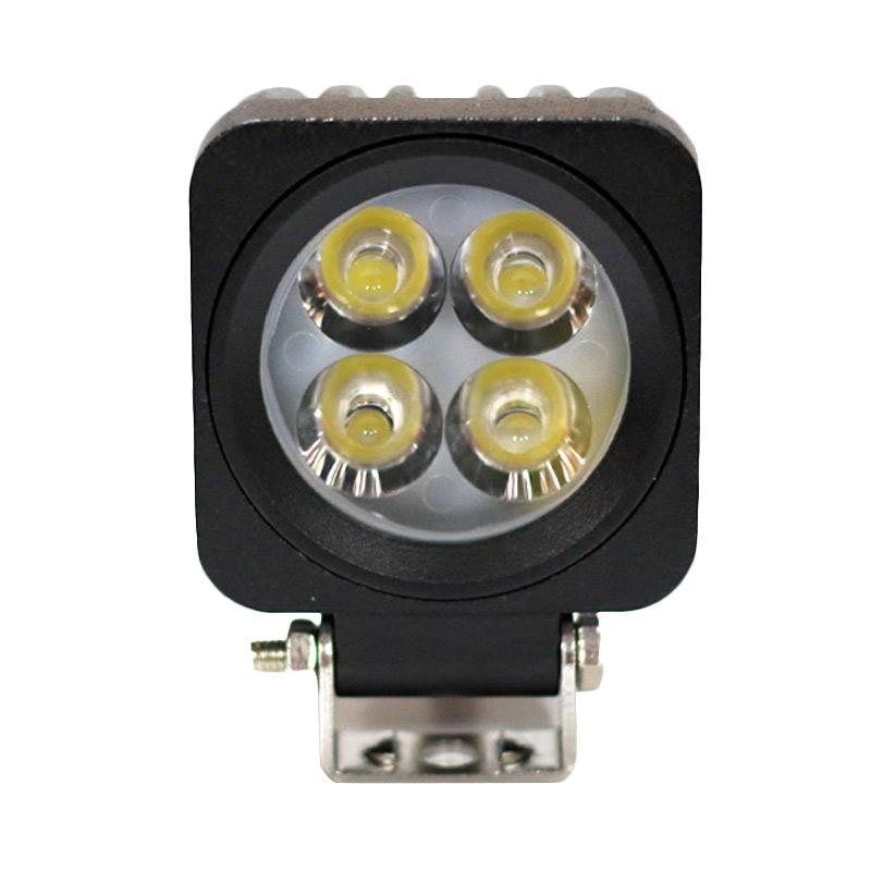 Autovision Spot Work Light Cree LED Bohlam Lampu Mobil [66 x 66 mm/12 V-24 V/10 W/6000 K]