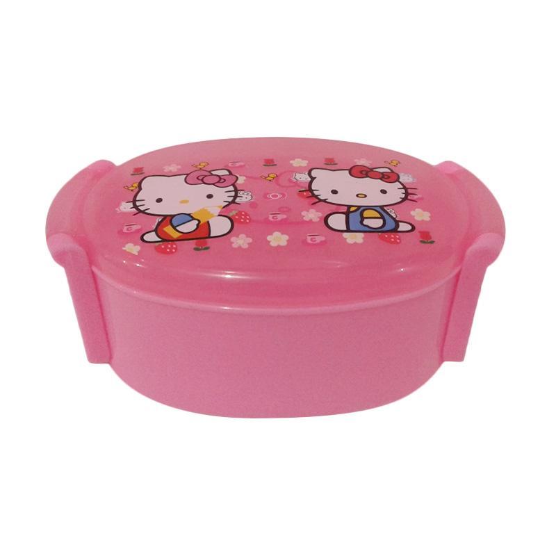 Hello Kitty Identik HK Set Tempat Makan - Multicolor