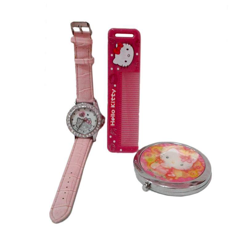 Hello Kitty HK-008 Paket Dandan Jam Tangan Wanita - Multicolor