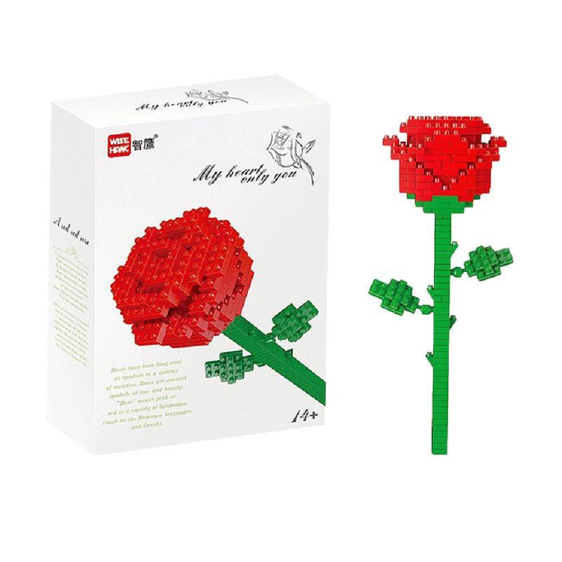 Wisehawk 2353 Red Rose Mainan Blok & Puzzle