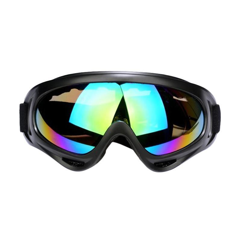 Selft Kacamata Goggles Ski - Multi Black
