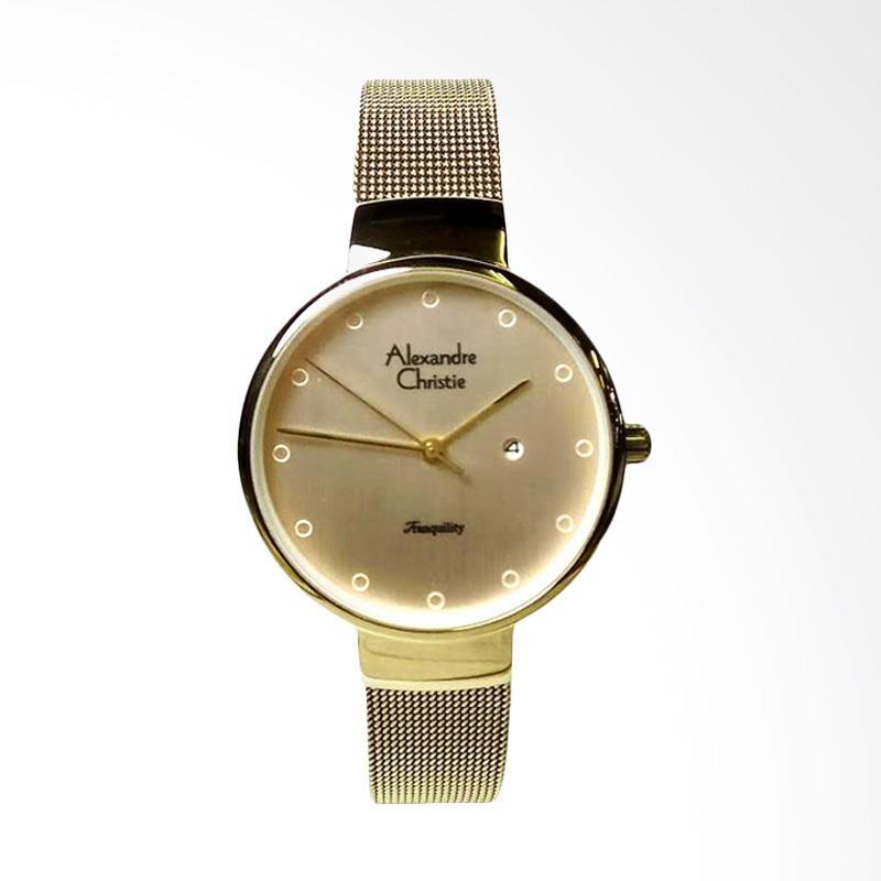 Alexandre Christie 2509 Jam Tangan Wanita - Light Gold
