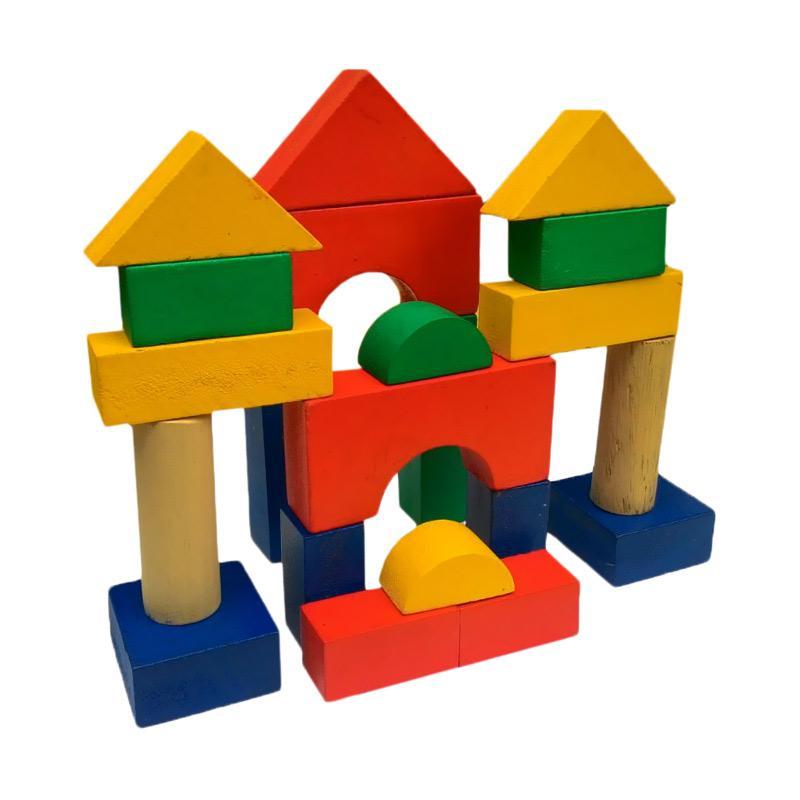 Atham Toys Balok Bangun Ekono Mainan Kayu