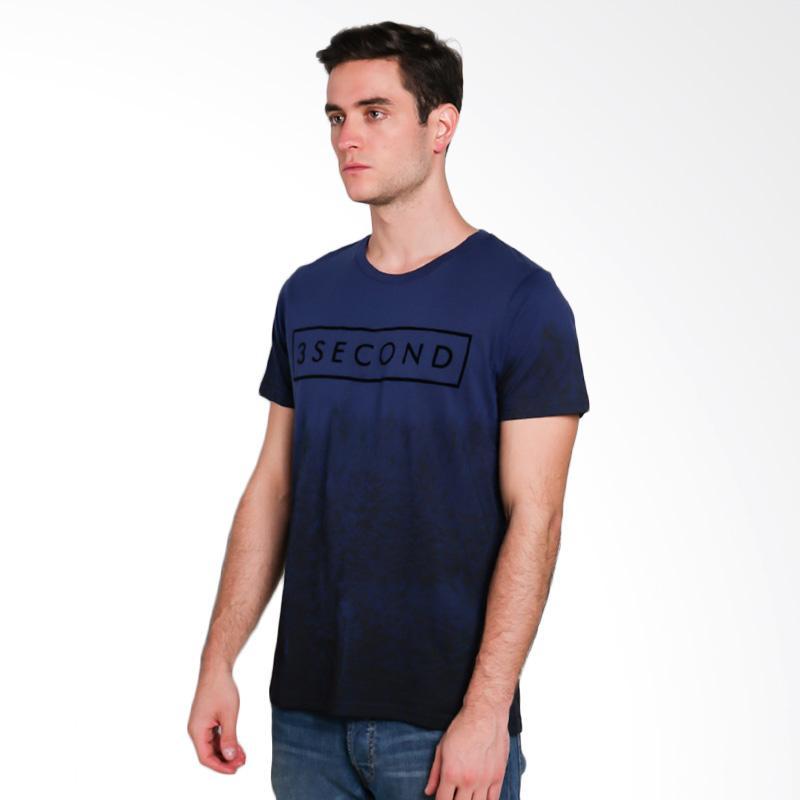 3SECOND Men T-shirt Atasan Pria - Blue [1911 119111712]