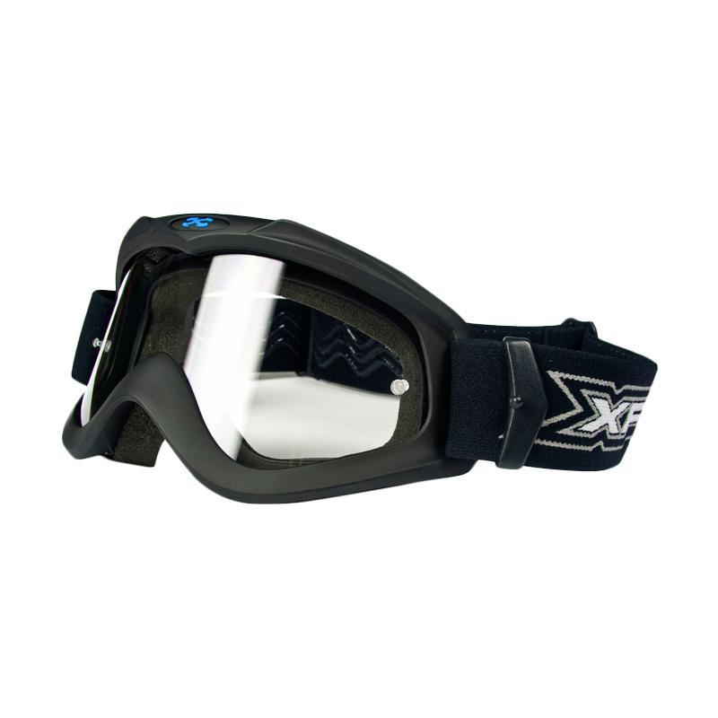 Xforce® Max Moto Cross Goggle Kacamata Motor - Matte Black