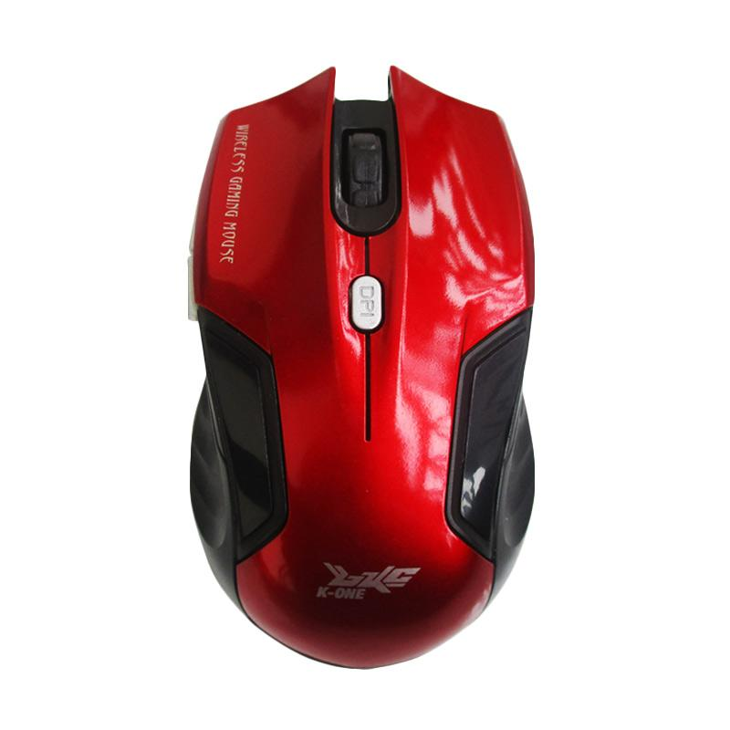 K-One E-1500 Wireless Mouse - Merah