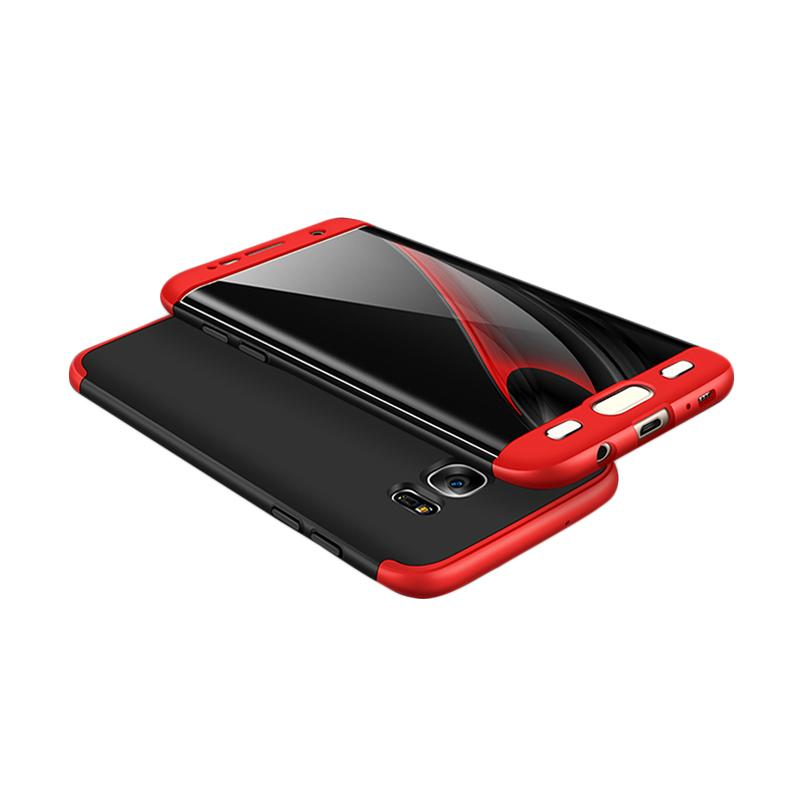 HM 360 Full Protection 3 in 1 Casing for Samsung S7 Edge - Black Red