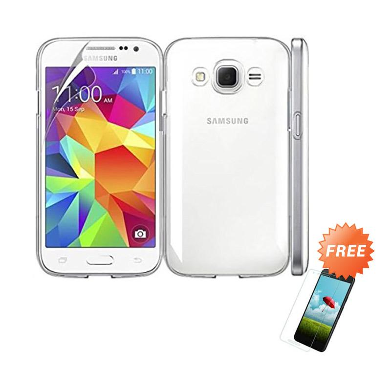 Produk OEM Crystal Hardcase Casing for Samsung Galaxy J1 2016 J120 Clear Free .