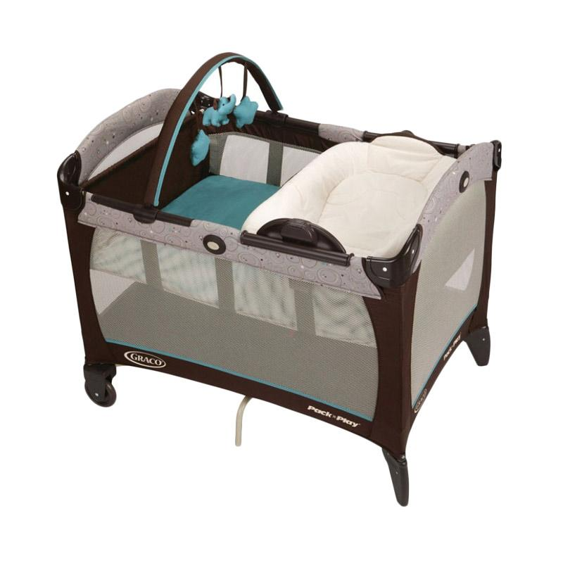 Graco Pack n Play with Reversible Napper & Changer Tempat Tidur Bayi - Scribbles