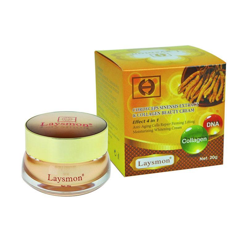 Laysmon Cordyceps Sinensis Extract & Collagen Beauty Cream Pelembab Wajah  [20 g]