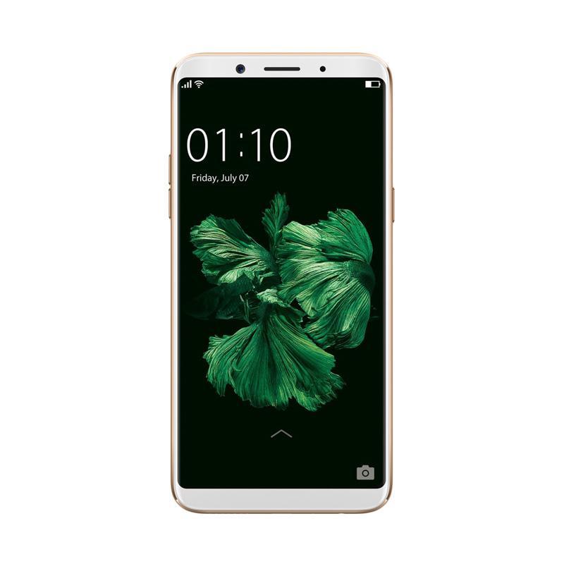 Oppo F5 Smartphone - Gold [32GB/4GB] Free Prince PC-5