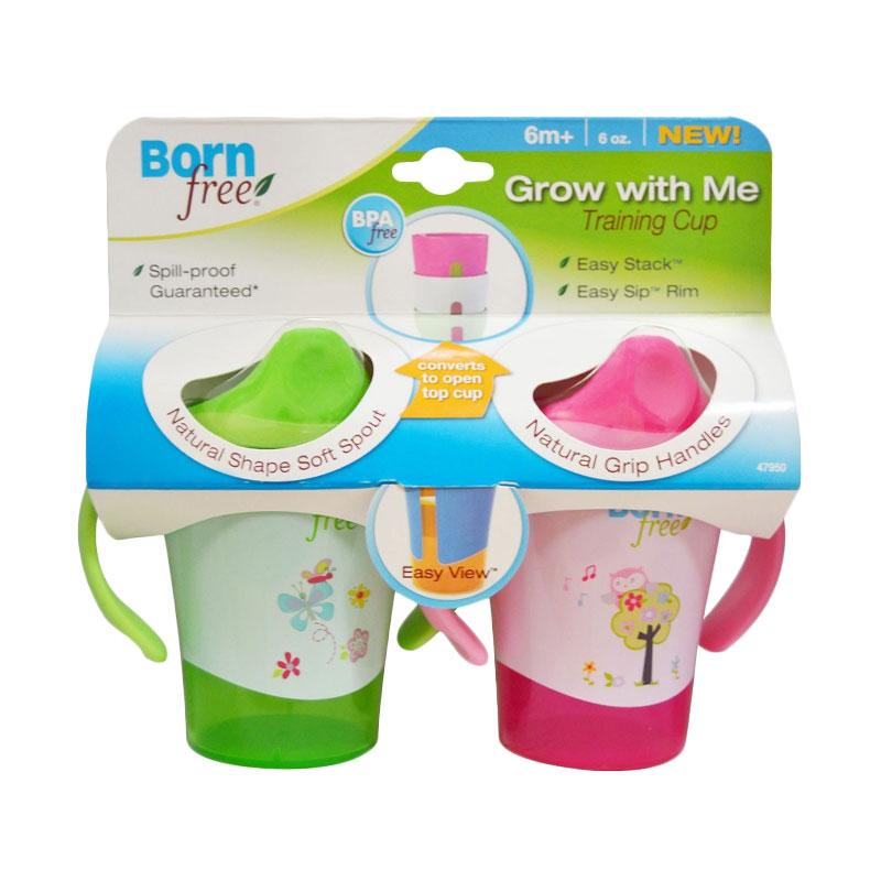 Born Free Animal Grow with Me Training Cup - Pink [180 mL]